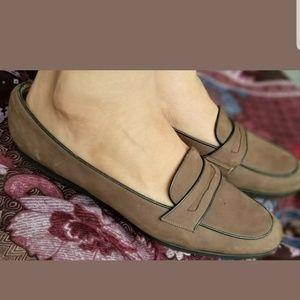 Salvatore Ferragamo Womens Beige Leather Shoes